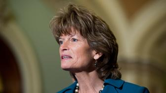 UNITED STATES - JANUARY 29: Sen. Lisa Murkowski, R-AK, speaks with reporters following the cloture vote on the Keystone pipeline on Thursday, Jan. 29, 2015. (Photo By Bill Clark/CQ Roll Call)