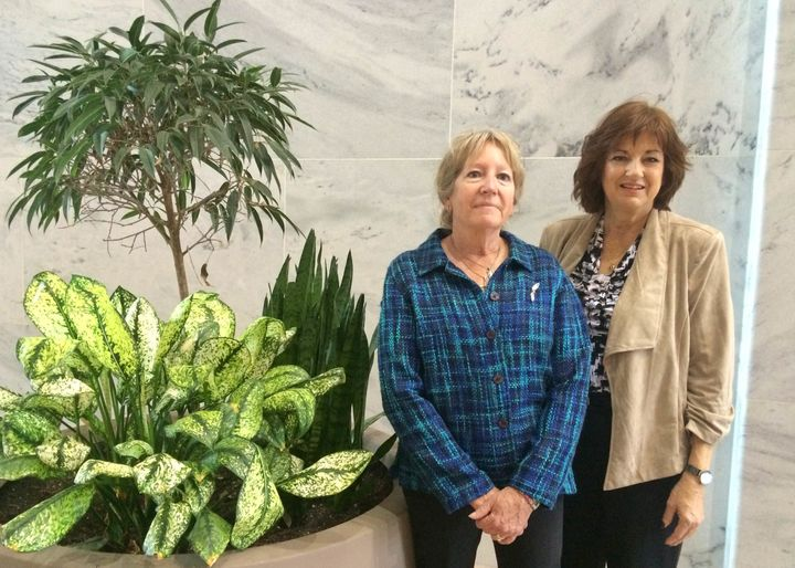 Michelle DeFord and Karen Meredith, pictured in the Hart Senate Office Building, traveled to Washington, D.C. to pu
