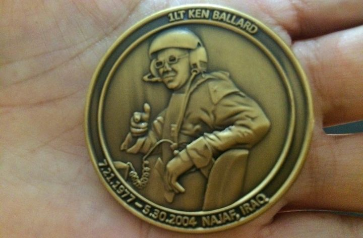 Karen Meredith had a challenge coin made in honor of her son.