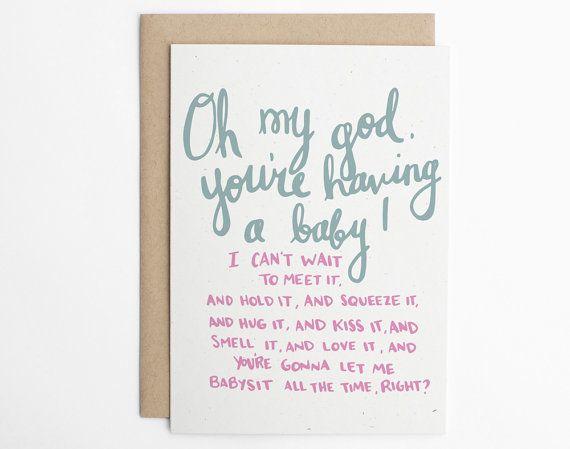 etsy - Pregnancy Congratulations Card