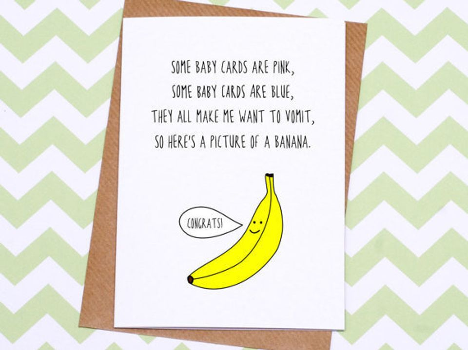 Expecting Baby Card ~ Little Pooper! Funny New Baby Card Baby Congrats Card