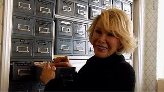 "Joan Rivers shows off her massive archive of jokes in a clip from ""Joan Rivers: A Piece Of Work"""