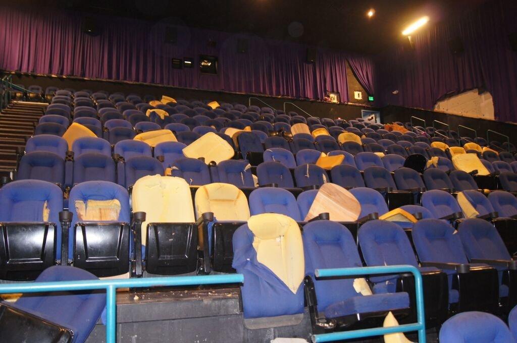 Theater shooting aurora photos scene crime