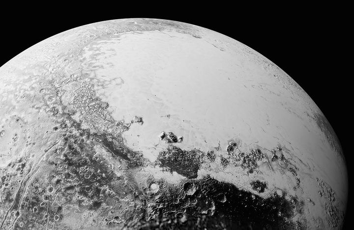 This image of Pluto was taken by New Horizons from a distance of about 50,000 miles.