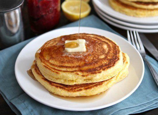 "<strong>Get the <a href=""http://www.twopeasandtheirpod.com/lemon-cornmeal-pancakes/#more-12433"" target=""_hplink"">Lemon Cornme"