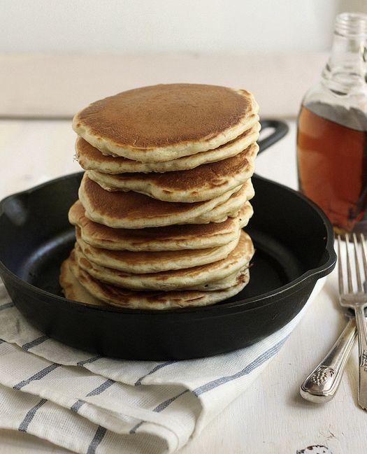 "<strong>Get the <a href=""http://www.completelydelicious.com/2013/05/sourdough-pancakes.html"" target=""_blank"">Sourdough Pancak"