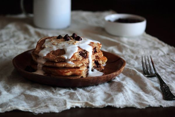 """<strong>Get the <a href=""""http://www.pastryaffair.com/blog/smores-pancakes.html"""" target=""""_blank"""">S'mores Pancakes recipe</a> f"""