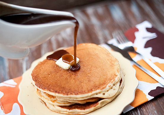 """<strong>Get the <a href=""""http://www.bunsinmyoven.com/2012/10/04/apple-cider-pancakes-with-cinnamon-syrup/"""" target=""""_blank"""">Ap"""