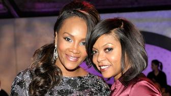 DALLAS - FEBRUARY 12:  Actress Vivica A. Fox (L) and actress Taraji P. Henson attend the Exclusive FABULOUS 23 Dinner hosted by Jordan Brand during All-Star Weekend on February 12, 2010 in Dallas, Texas.  (Photo by Charley Gallay/Getty Images for Jordan Brand)