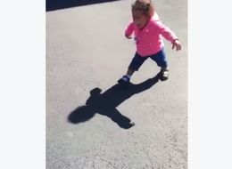 We've All Been This Adorbs Toddler Scared Of Her Shadow