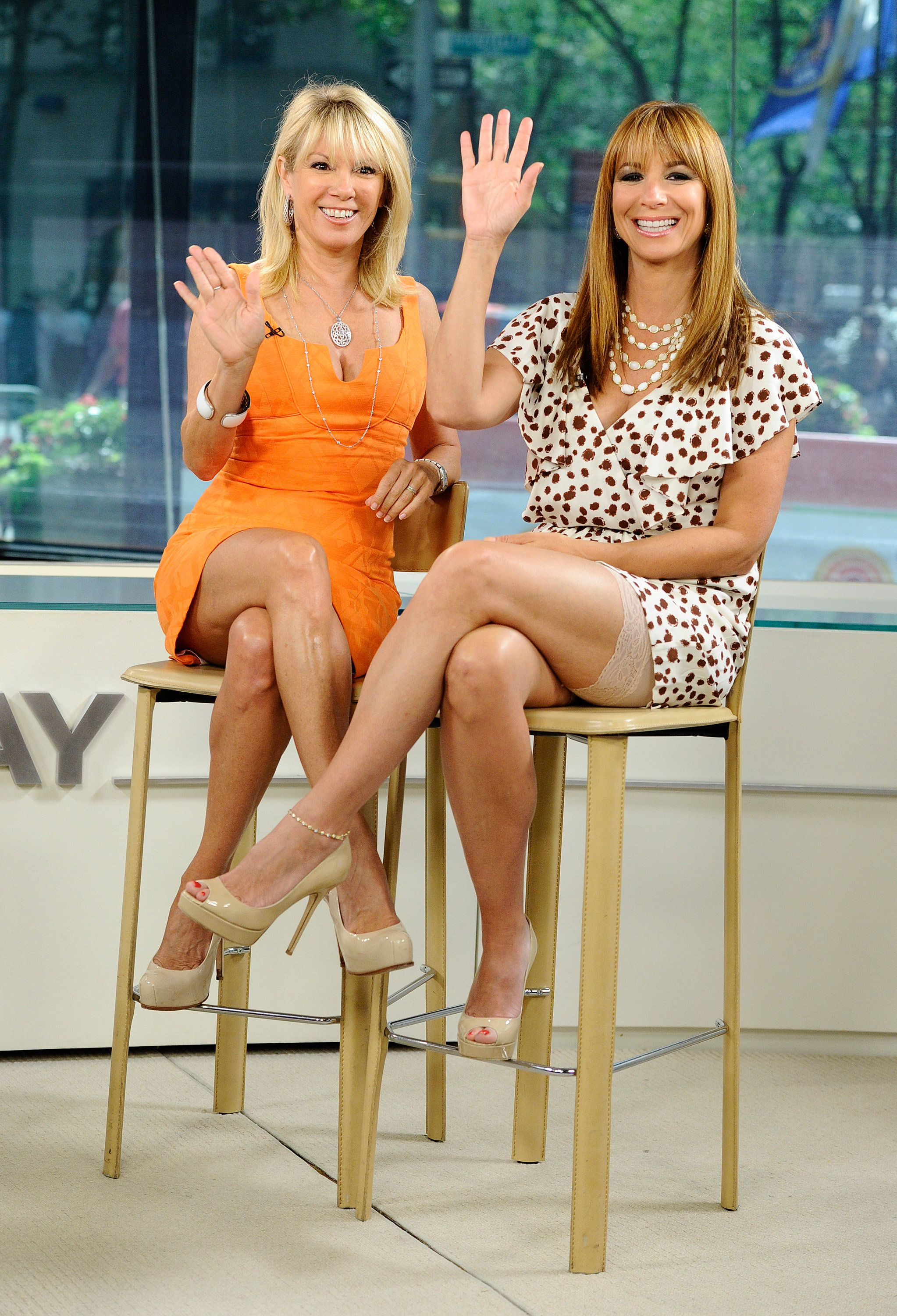 TODAY -- Pictured: (l-r) Ramona Singer and Jill Zarin appear on NBC News' 'Today' show  (Photo by Peter Kramer/NBC/NBCU Photo Bank via Getty Images)