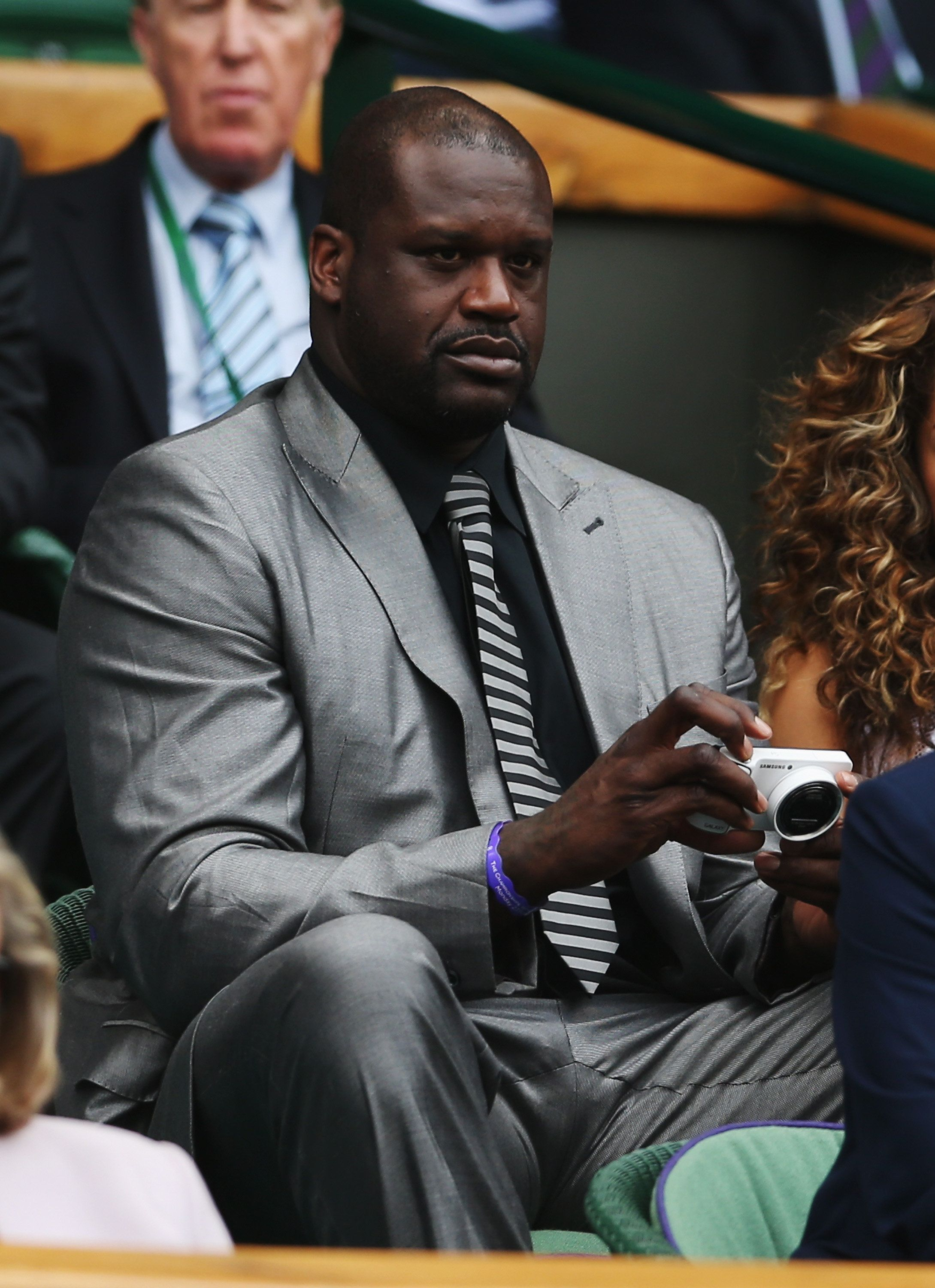 LONDON, ENGLAND - JUNE 23:  Former NBA player Shaquille O'Neal attends day one of the Wimbledon Lawn Tennis Championships at the All England Lawn Tennis and Croquet Club at Wimbledon on June 23, 2014 in London, England.  (Photo by Matthew Stockman/Getty Images)