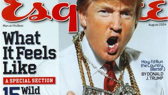 Donald Trump on the cover of the August 2004 issue of Esquire.