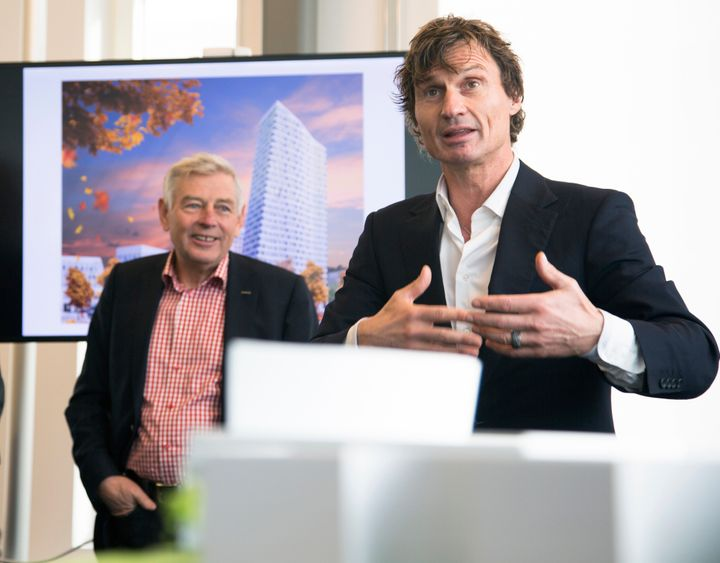Petter Stordalen is seen speaking in this undated Flickr photo. The Norwegian hotel magnate is donating 5,000 hotel rooms to