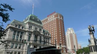 City Hall (foreground) + Biltmore Hotel