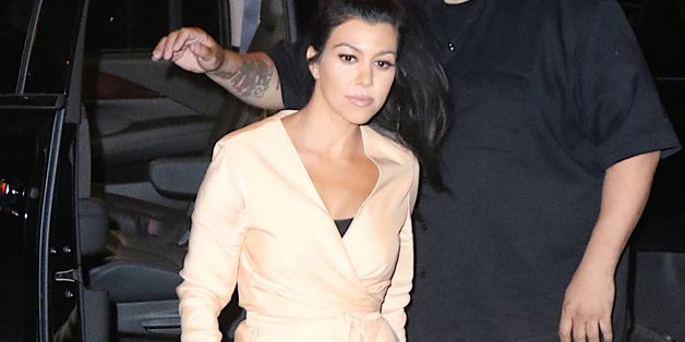 Kourtney Kardashian Skips Pants For A Night Out