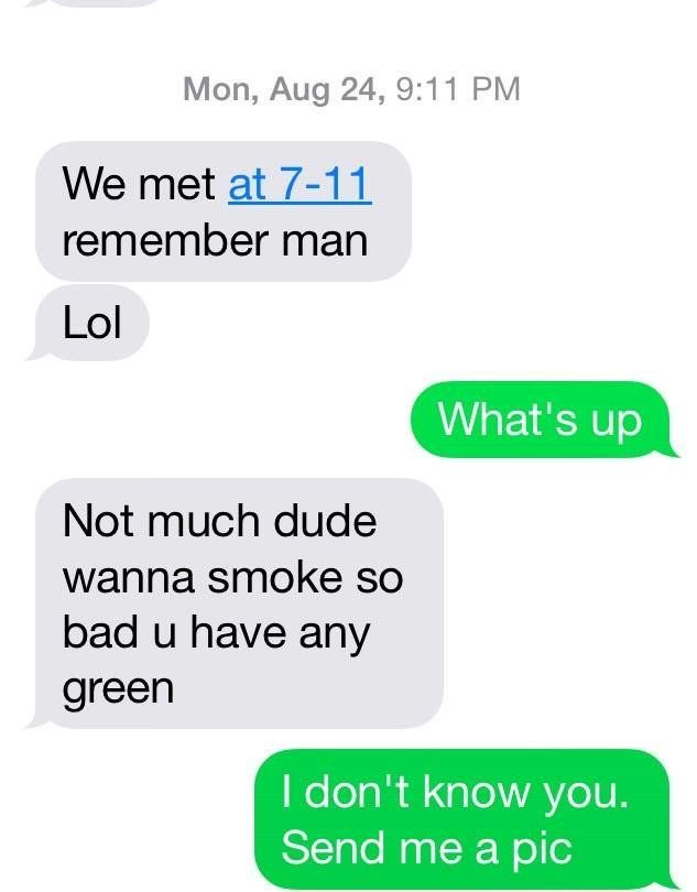 William Lamberson texted a cop about drugs
