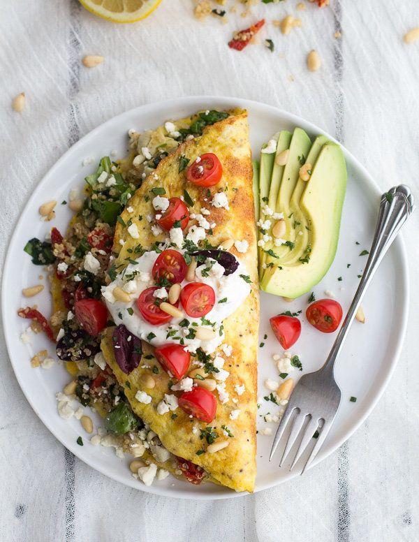 "<strong>Get the <a href=""http://www.halfbakedharvest.com/mad-greek-quinoa-dinner-omelets-feta-tzatziki/"" target=""_blank"">Gree"