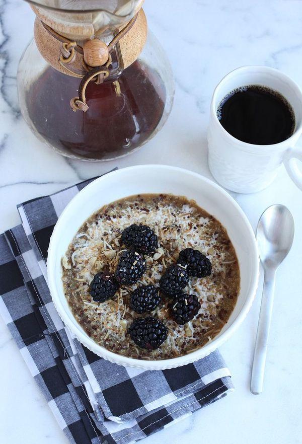 "<strong>Get the <a href=""http://www.abeautifulmess.com/2014/01/coconut-breakfast-quinoa.html"" target=""_blank"">Coconut Breakfa"
