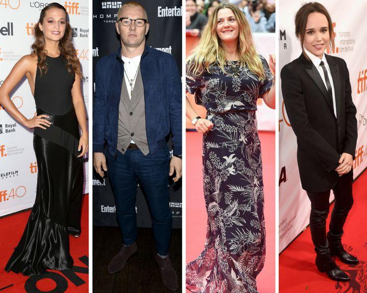 Alicia Vikander, Joel Edgerton, Drew Barrymore and Ellen Page appear at various 2015 Toronto Film Festival events.