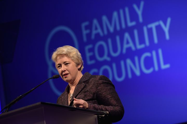 Houston mayor Annise Parker speaks at the Family Equality Council's Los Angeles Awards dinner in Los Angeles, California, on