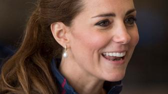 PORTSMOUTH, ENGLAND - JULY 26:  Catherine, Duchess of Cambridge at the Ben Ainslie Racing team base as she attends the America's Cup World Series event on July 26, 2015 in Portsmouth, England.  (Photo by Mark Cuthbert/UK Press via Getty Images)