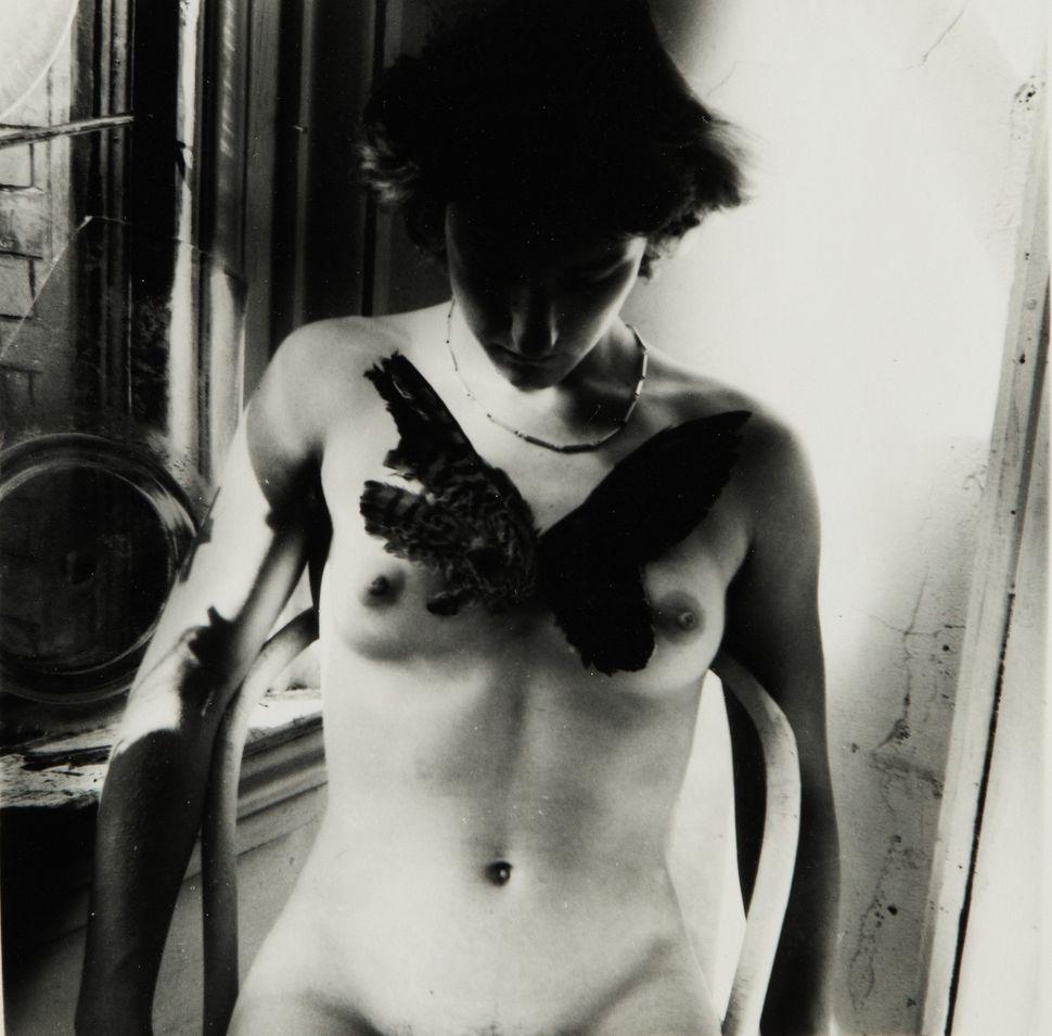 Francesca Woodman, Untitled, Providence Rhode Island (Liza with Bird), 1970s (Est. $20/30,000)