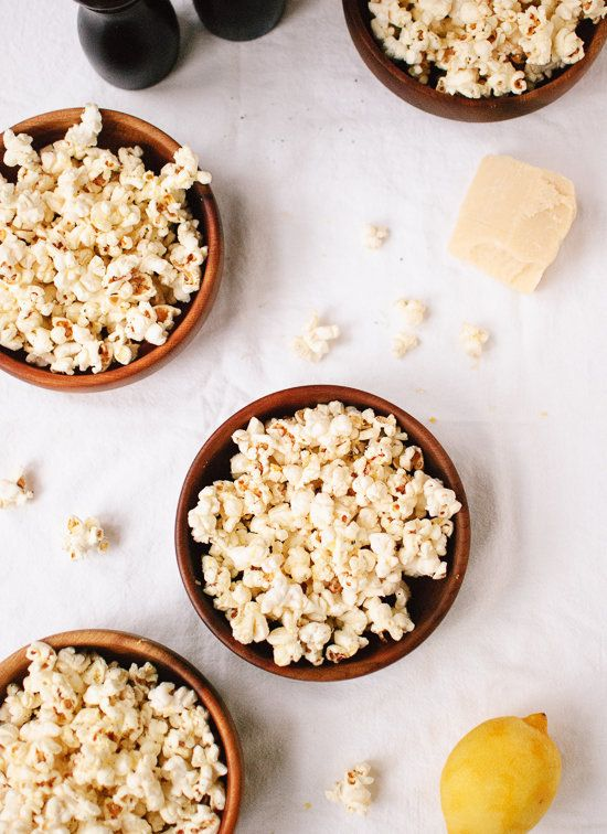 "<strong>Get the <a href=""http://cookieandkate.com/2013/lemon-parmesan-and-black-pepper-popcorn/"">Lemon, Parmesan and Black Pe"