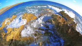 Lanscape in Zakynthos, Greece - Fish-eye lens