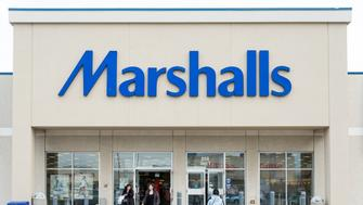 TORONTO, ONTARIO, CANADA - 2015/03/29: Marshalls, Inc., is a chain of American off-price department stores owned by TJX Companies.   Marshalls has over 750 conventional stores, as well as larger stores named Marshalls Mega Store, covering 42 states and Puerto Rico. Marshalls expanded into Canada in March 2011. (Photo by Roberto Machado Noa/LightRocket via Getty Images)