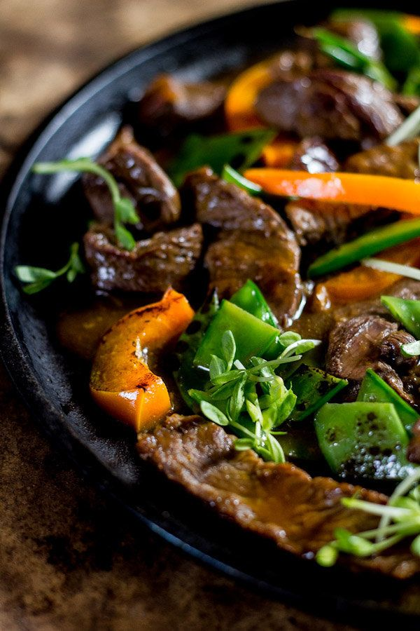 """<strong>Get the <a href=""""http://www.theclevercarrot.com/2014/03/beef-stir-fry-with-peppers-pea-shoots/"""" target=""""_blank"""">Beef"""