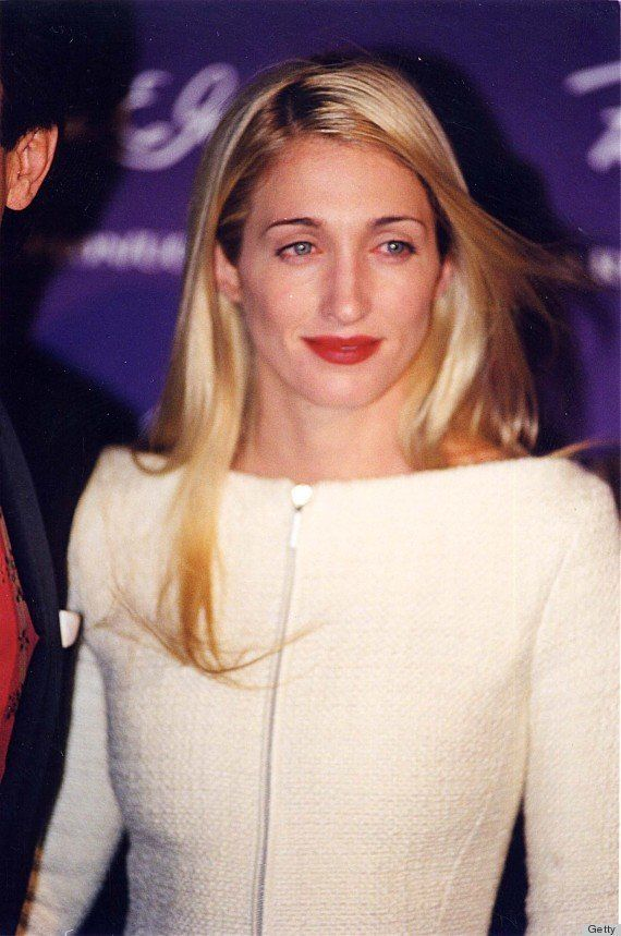 The blonde wife of John F. Kennedy Jr. often accented her undeniable beauty with a bright red lipstick.