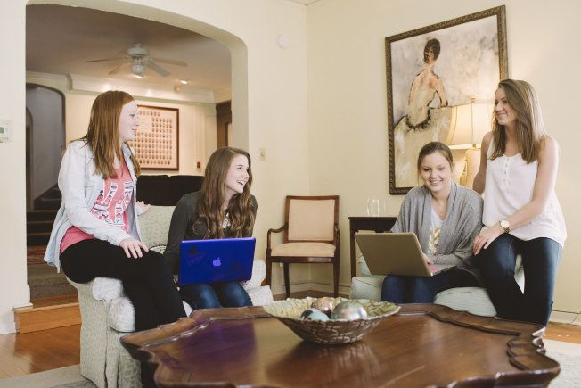 Alyssa Lowery, second from left, is trying to graduate from the University of Illinois—Urbana-Champaign in three years.