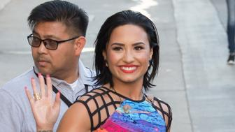 LOS ANGELES, CA - AUGUST 31: Demi Lovato is seen at 'Jimmy Kimmel Live' on August 31, 2015 in Los Angeles, California.  (Photo by RB/Bauer-Griffin/GC Images)