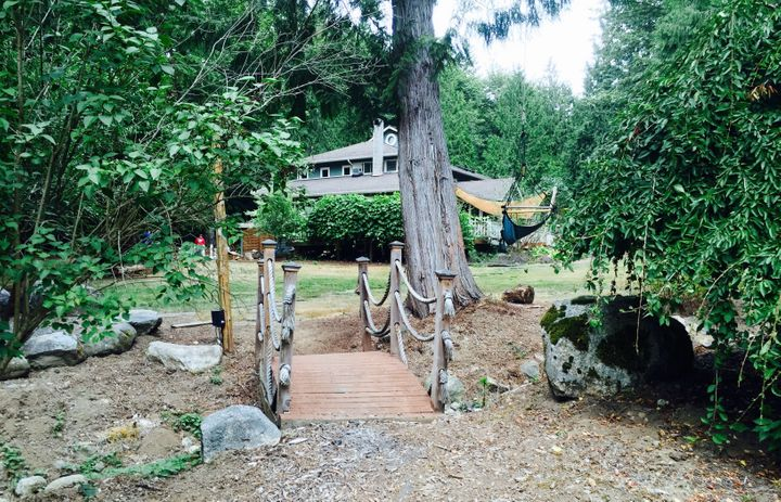 The grounds at reSTART include a fire pit, a garden, a chicken coop and plenty of room to sit back and reconnect with nature.