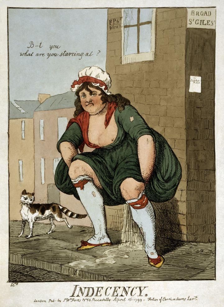 """Indecency"" Cartoon print, 1799"