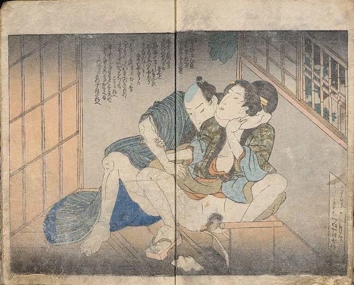 """Utagawa Kuniyoshi, """"Fitting Colors of Floral Decorations,"""" 1831<i></i>"""