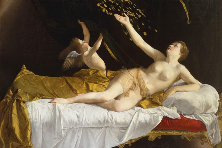 """Orazio Gentileschi, """"Danae and the Shower of Gold,"""" 1621"""