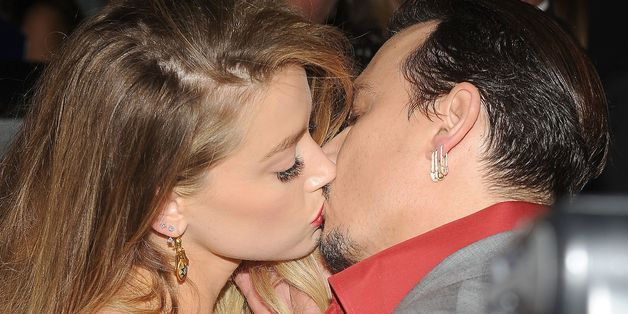 Amber Heard And Johnny Depp Seal Their TIFF Appearance With A Kiss