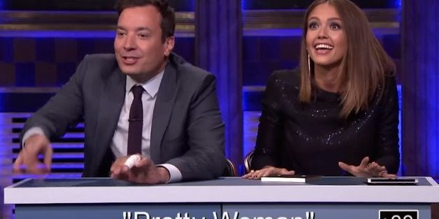 Jessica Alba Adorably Fails At New 'Tonight Show' Game