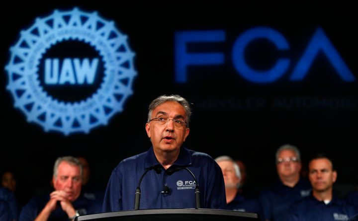 Fiat Chrysler Automobiles CEO Sergio Marchionne speaks during a ceremony to mark the opening of contract negotiations with th