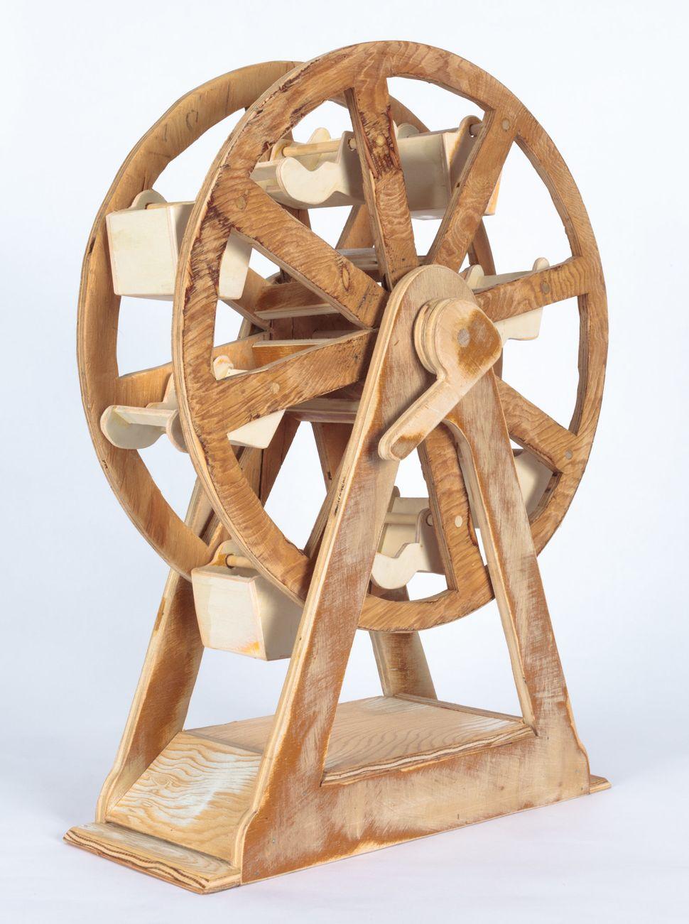 "Camille's Ferris Wheel, Wood, 21"" x 16"""