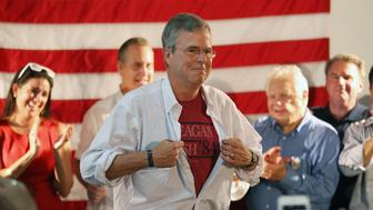 Republican presidential candidate Jeb Bush at a campaign event in Coral Gables, Fla., on Saturday, Sept. 12, 2015. (Roberto Koltun/El Nuevo Herald/TNS via Getty Images)