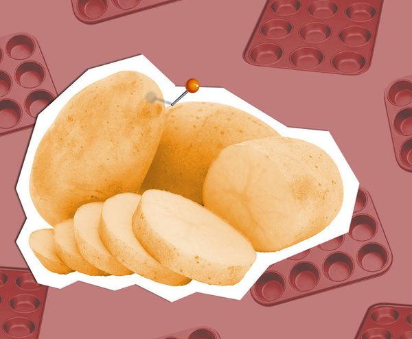 Who knew you could achieve potato nirvana -- that is, crunchy on the outside, soft and fluffy on the inside -- with a muffin