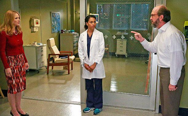 "Kelly McCreary as Maggie Pierce in the Season 12 premiere of ""Grey's Anatomy."""
