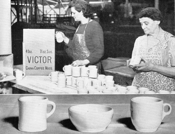 Women working at the Victor, NY, factory.