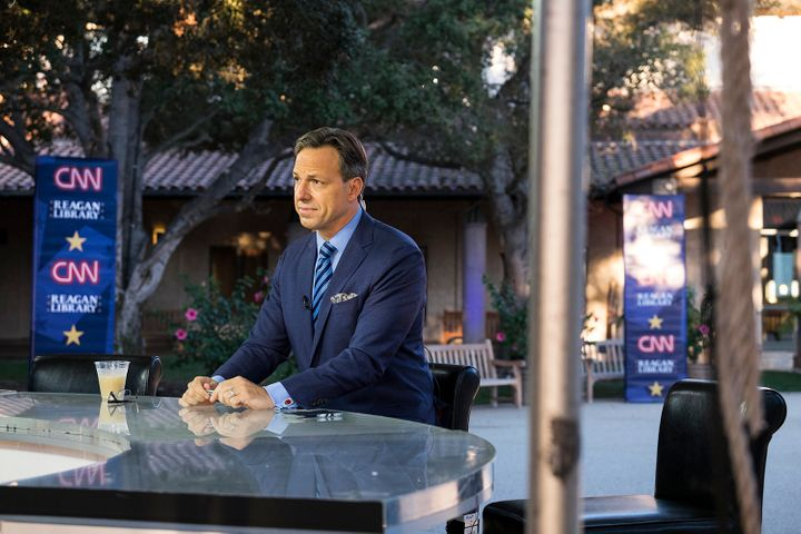 Jake Tapper at the Reagan Library, where CNN's Republican primary debate will be held on Wednesday night.