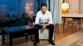 Nicolas Berggruen, billionaire investor and founder of Berggruen Holdings Inc., sits for a portrait in New York, U.S., on Wednesday, Sept. 22, 2010. Berggruen, who is acquiring German department-store chain Karstadt AG, said he's already invested about 73 million euros of the 400 million euros ($545 million) he's budgeted to spend on the stores in five years. Photographer: JB Reed/Bloomberg via Getty Images