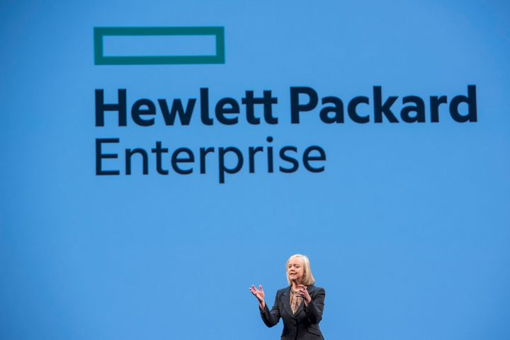 Hewlett-Packard CEO Meg Whitman speaks atthe HP Discover 2015 conference in Las Vegas, Nevada, onJune 2, 2015.
