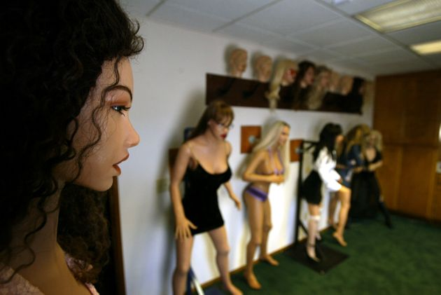 Finished silicone RealDoll sex dolls are seen at the Abyss Creations factory in San Marcos,